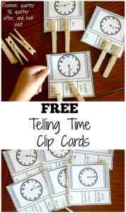 telling-time-clip-cards-pinterest