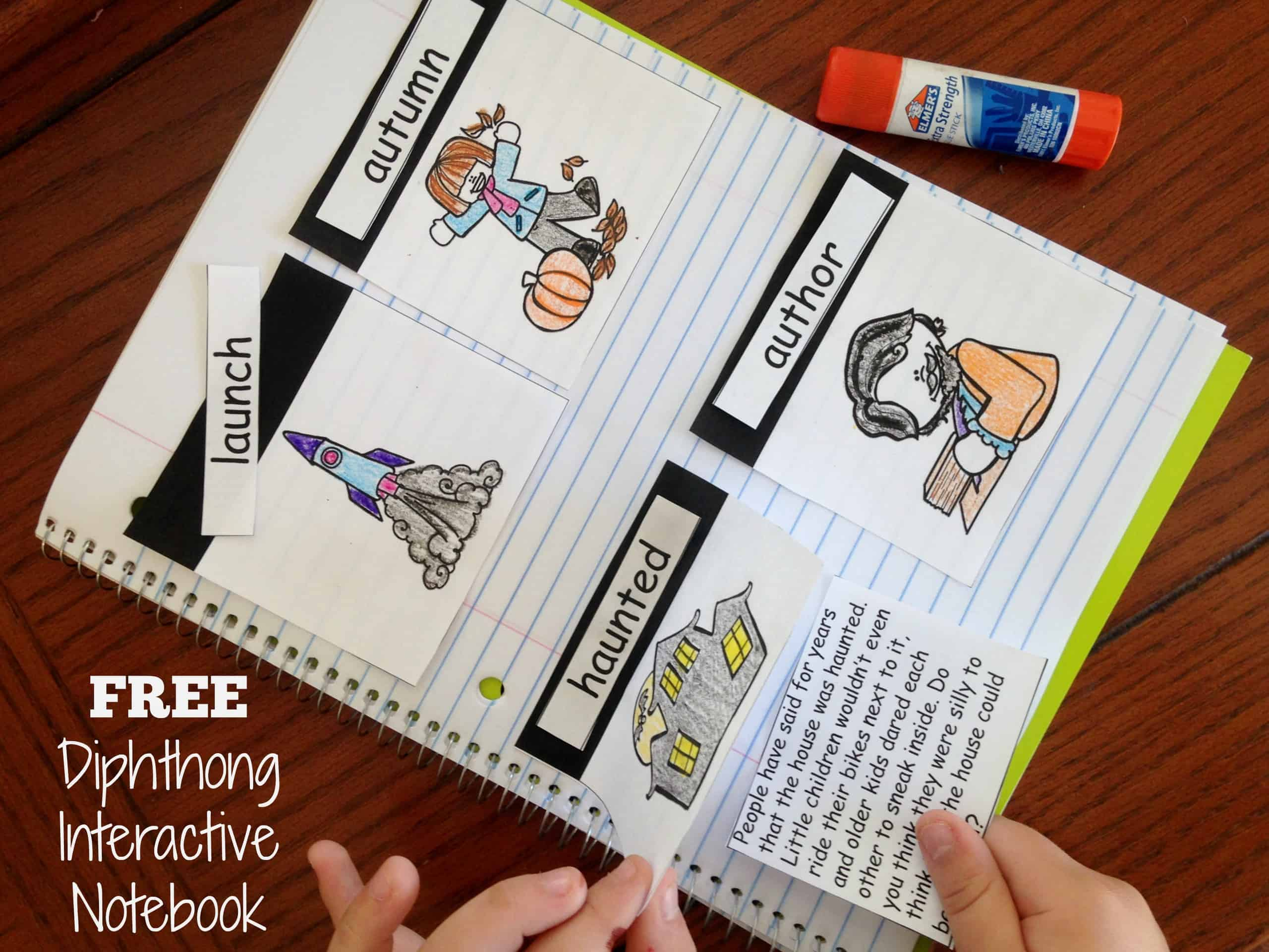 Free Word Family Interactive Notebook For Diphthongs Oi