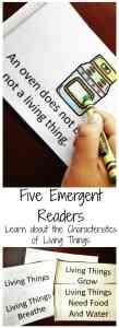 living vs nonliving things readers