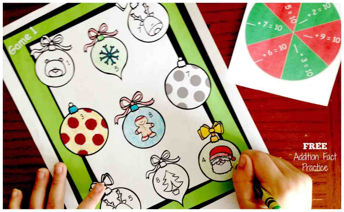 Six FREE Spin and Color Games For Addition Fact Practice