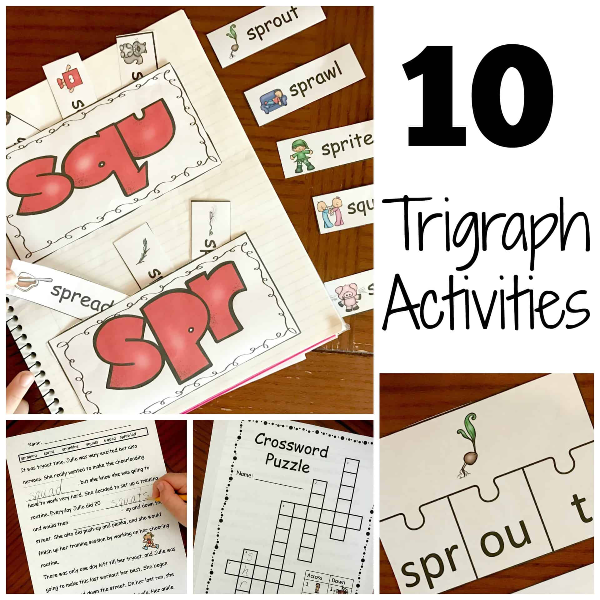 10 Activities For Teaching Trigraphs With A Free Coloring