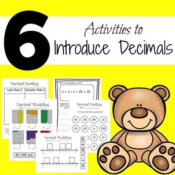 Activities to introduce decimals