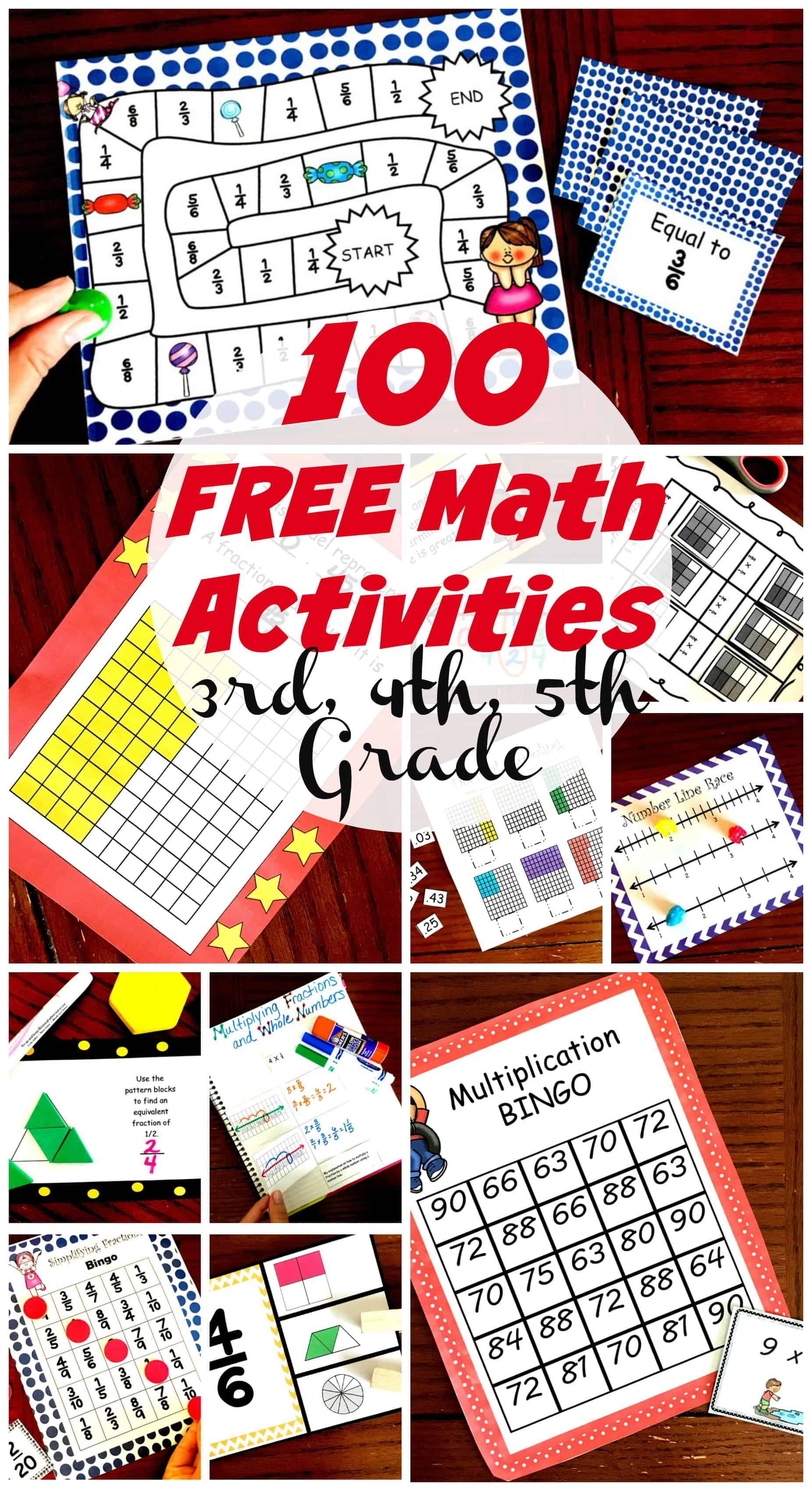photo relating to Dividing Fractions Games Printable referred to as 50 Astounding and Exciting Math Routines for 3rd, 4th, and 5th