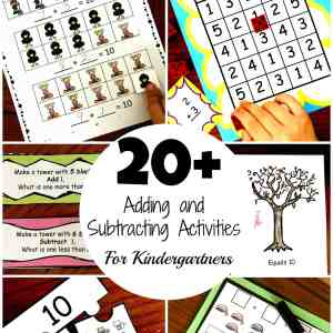 adding and subtracting activities for kindergartners