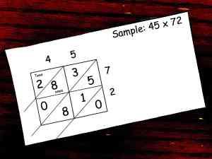 how to teach lattice multiplication