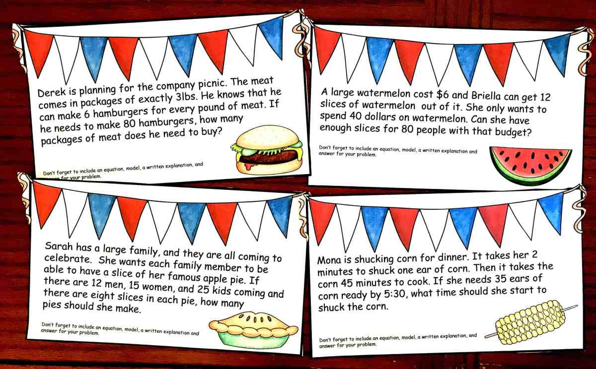 Grab Your Free Two Step Word Problems with a Patriotic Theme
