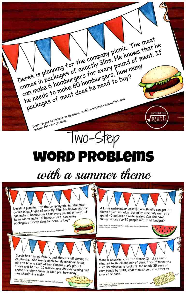 solving 2 step word problems