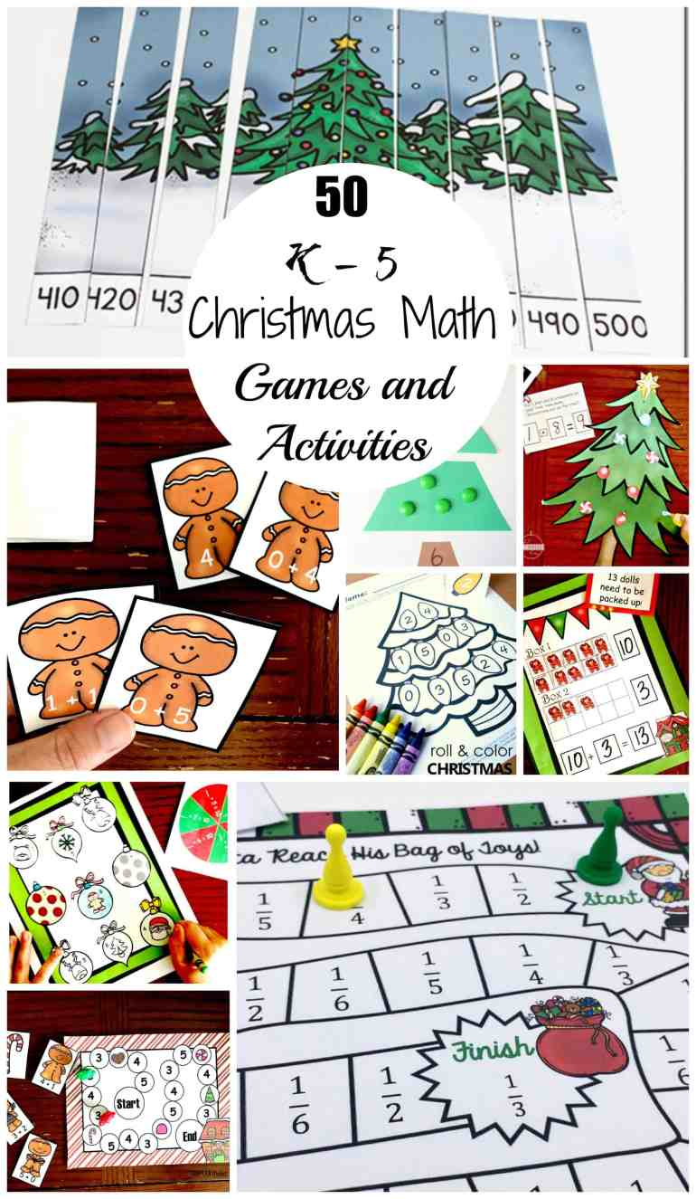 50 Christmas Math Games and Activities For Upper and Lower ...