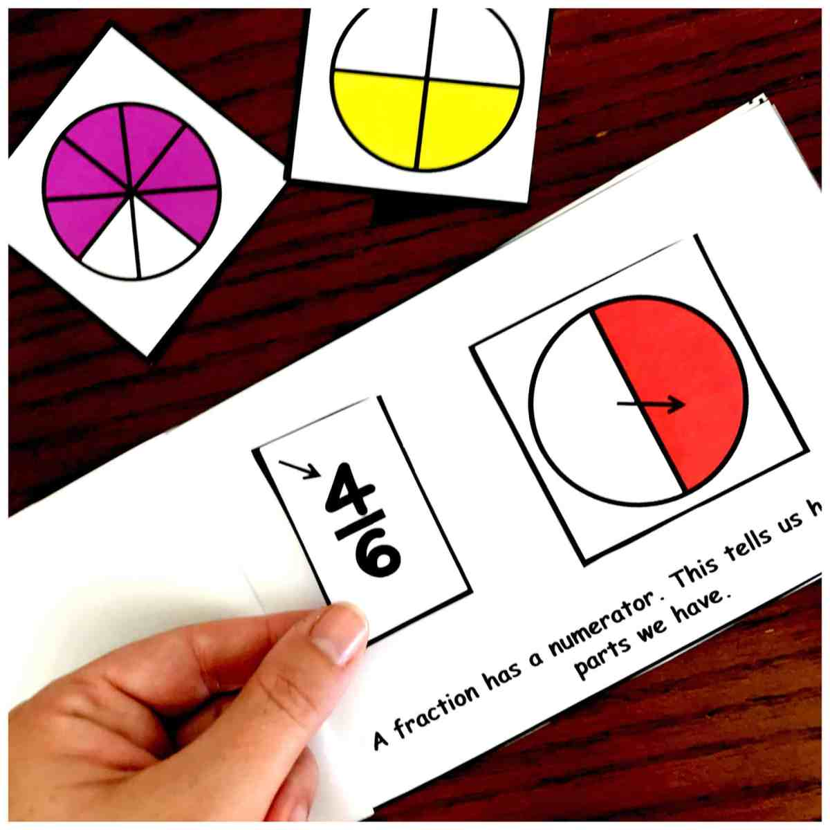 The Perfect Fraction Book Printable to Introduce Fractions and Fraction Vocabulary