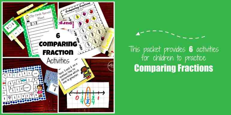 six comparing fraction activities