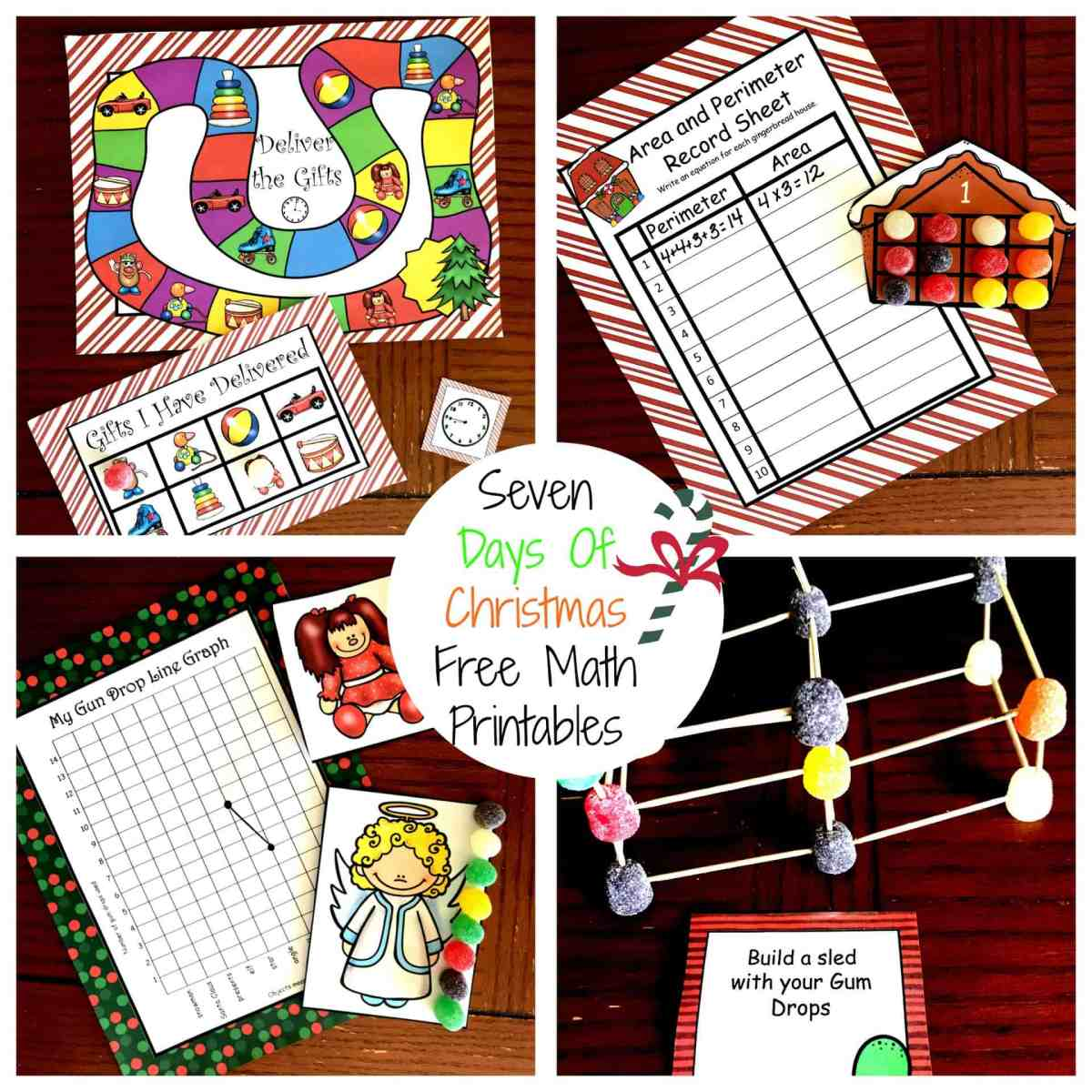 Seven Days Of Free Christmas Math Printables