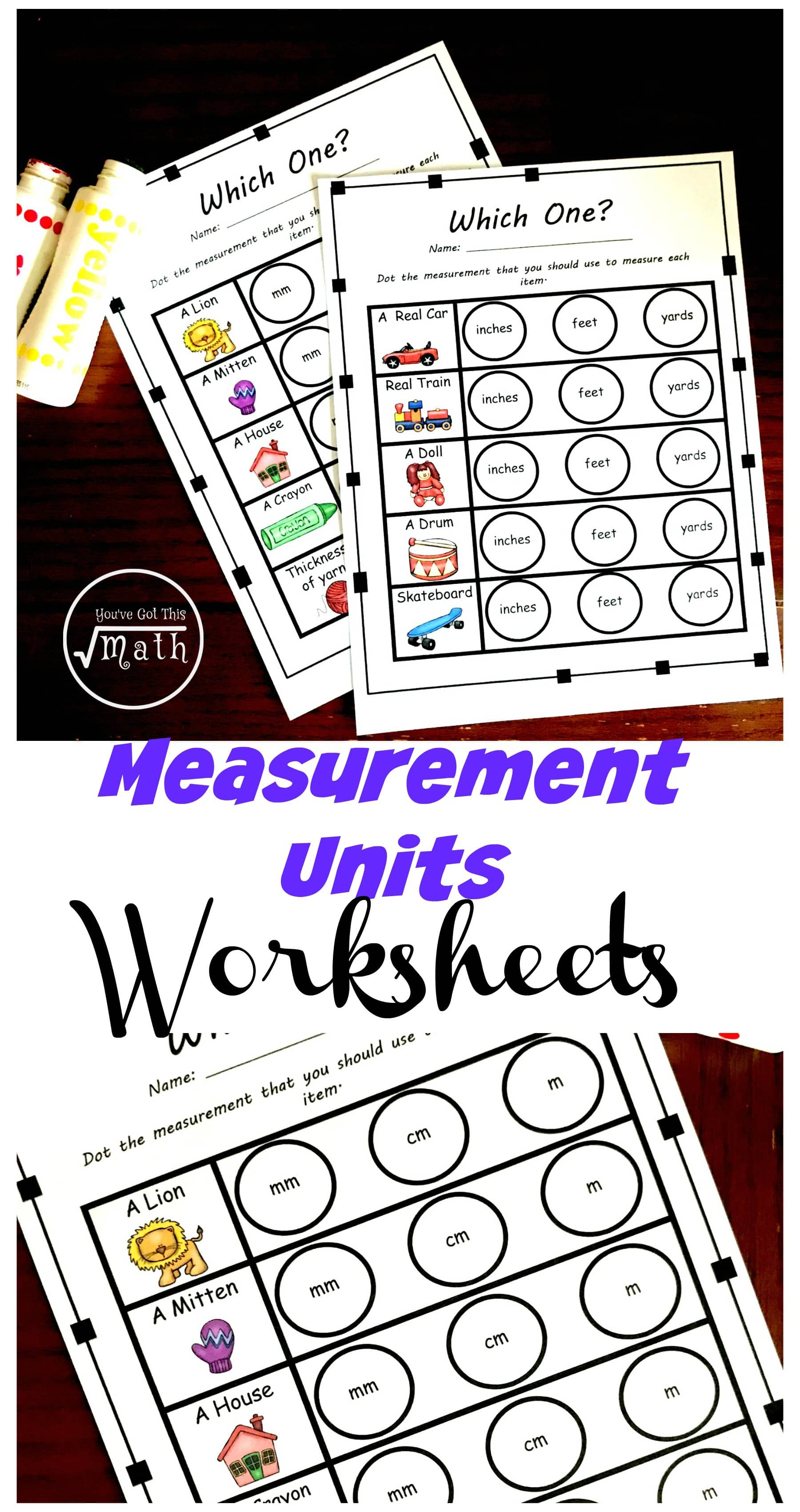 - Four Measurement Tools Worksheets To Practice Choosing Appropriate