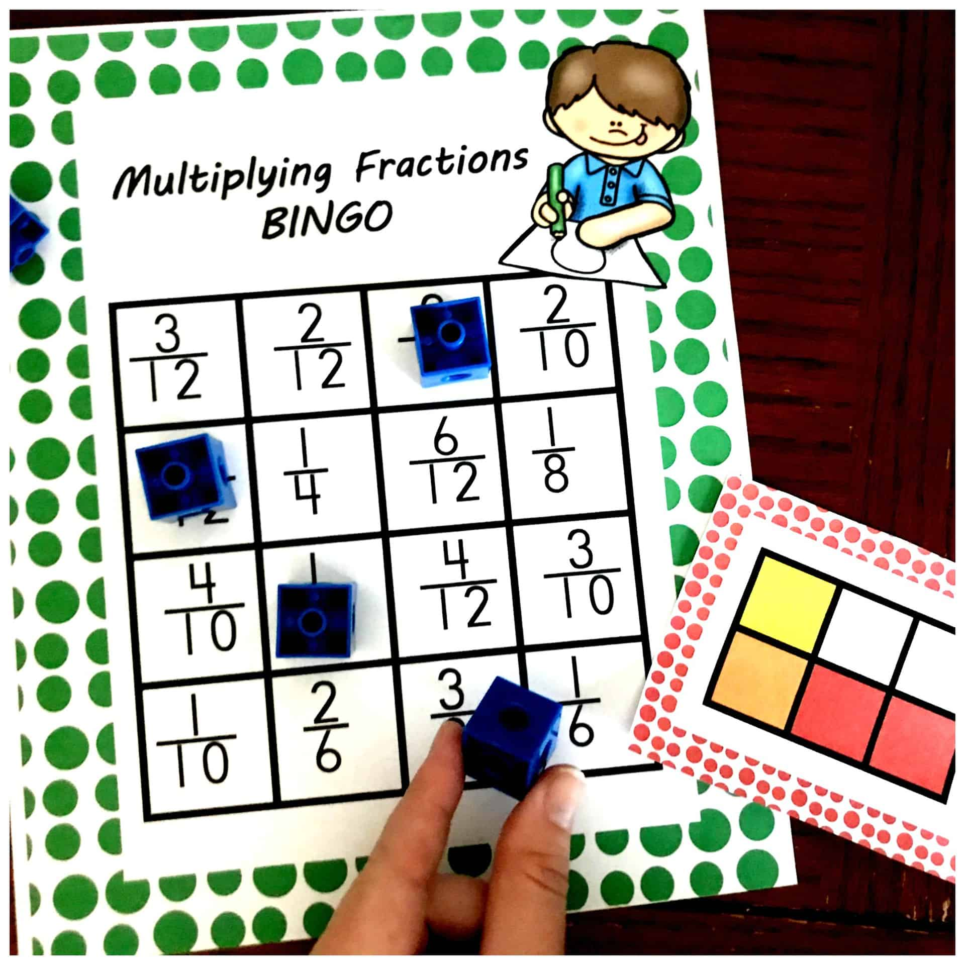 photo relating to Fraction Bingo Printable referred to as Heres a Multiplying Fractions Video game Thats Fantastic for Much more Prepare