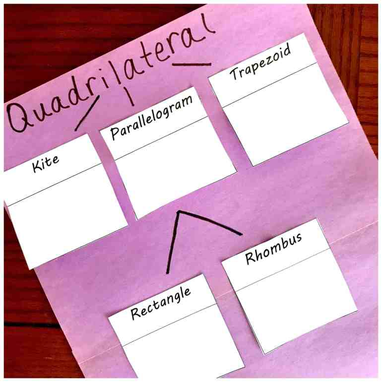 Free Printables To Help You Create A Quadrilateral Family Tree Quadrilaterals flip book this flip book reviews properties of quadrilaterals, including parallelograms, rectangles, rhombi, squares, trapezoids, and isosceles trapezoids. quadrilateral family tree