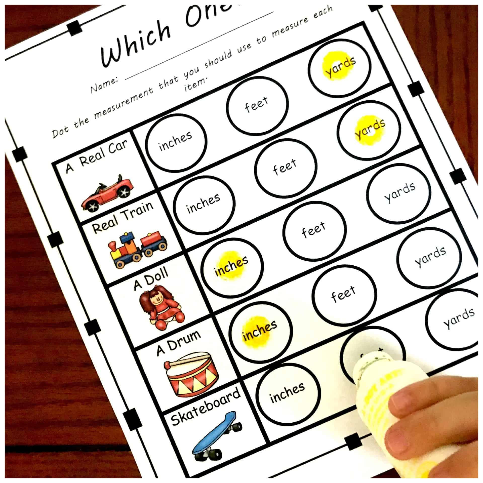 Four Measurement Tools Worksheets To Practice Choosing Appropriate Tools For Measuring