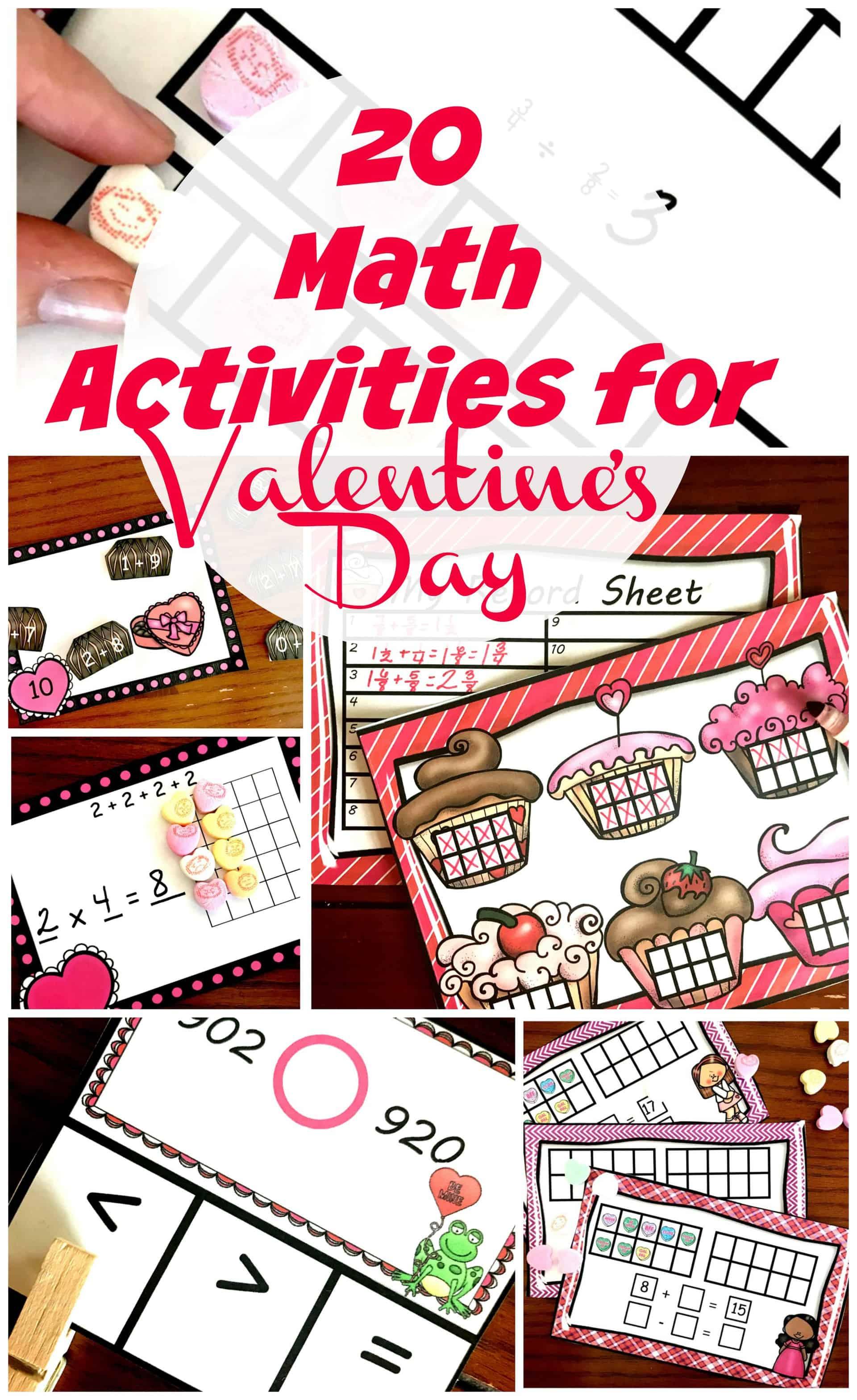 20 Valentine Math Activities For Kindergarten Through 5th