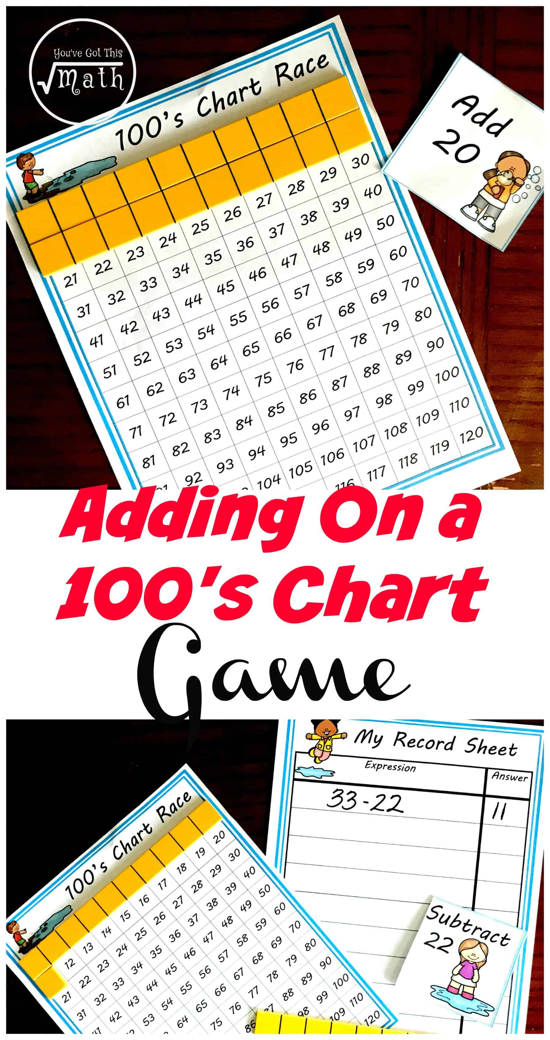Adding Ten on a Hundreds Chart
