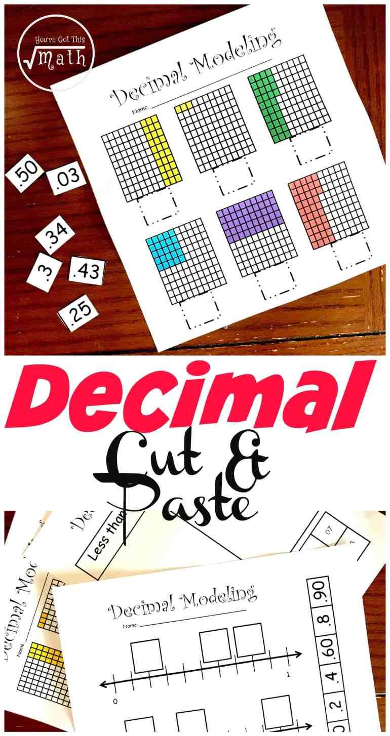 4 Hands-On Decimal Place Value Worksheets