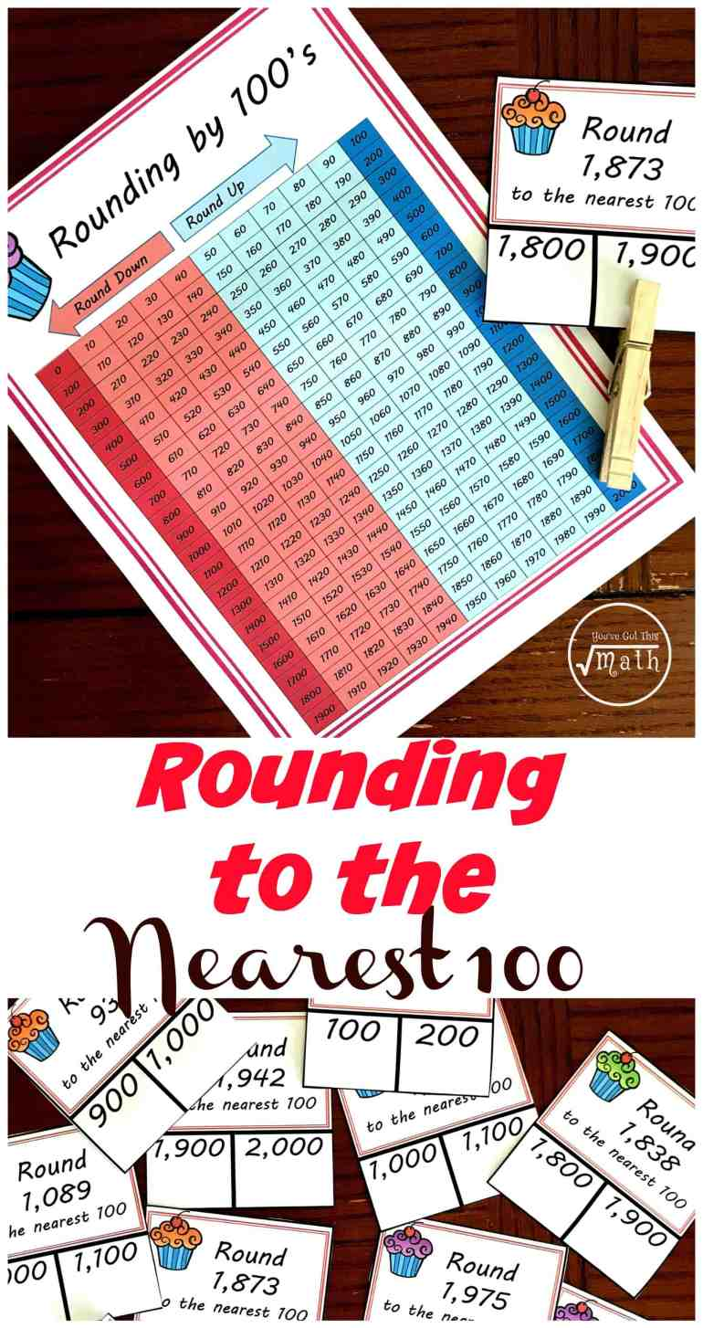 Need a rounding to the nearest hundred worksheet? These clip cards are a fun alternative to a worksheet and help children practice rounding while using a hundred chart. The combination of the hundreds chart and clip cards make this activity perfect for a child struggling with rounding.