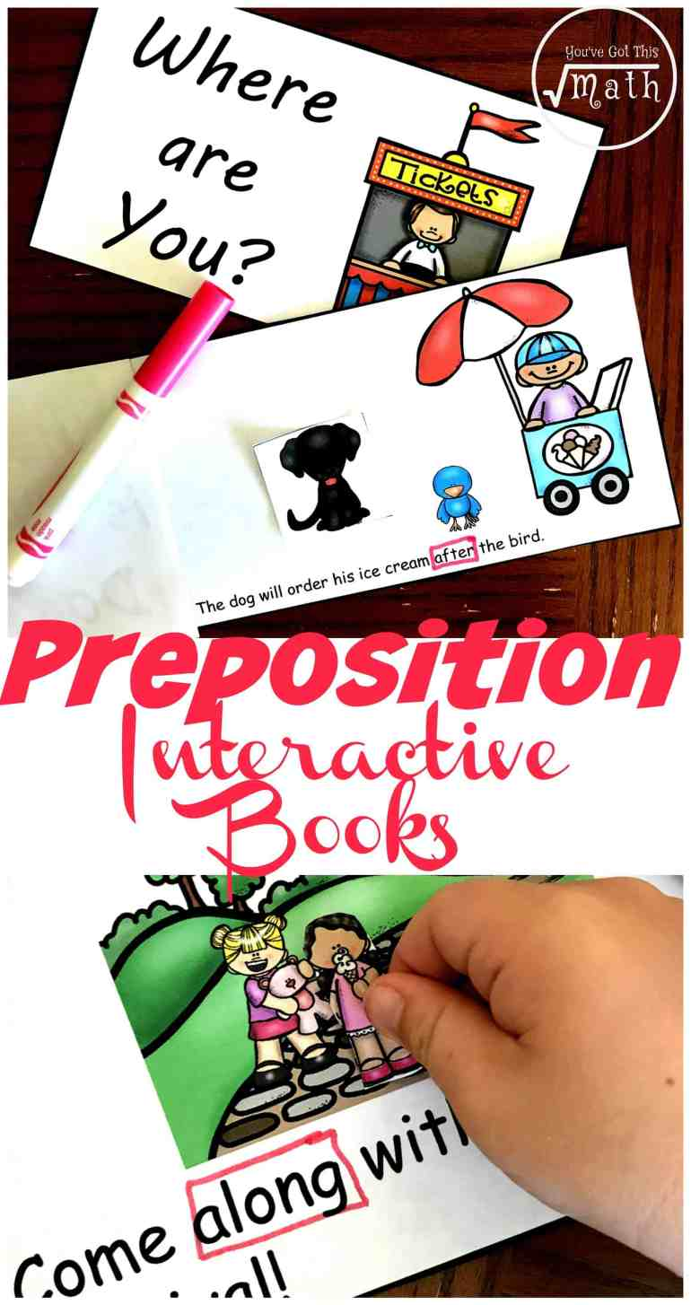 Are you teaching prepositions? These cut and paste books are a fun way for children to identify prepositions in a sentence!