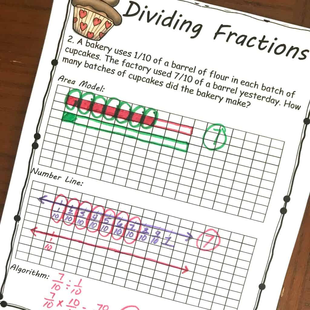 Free Yummy Word Problems For Dividing Fractions By Fractions