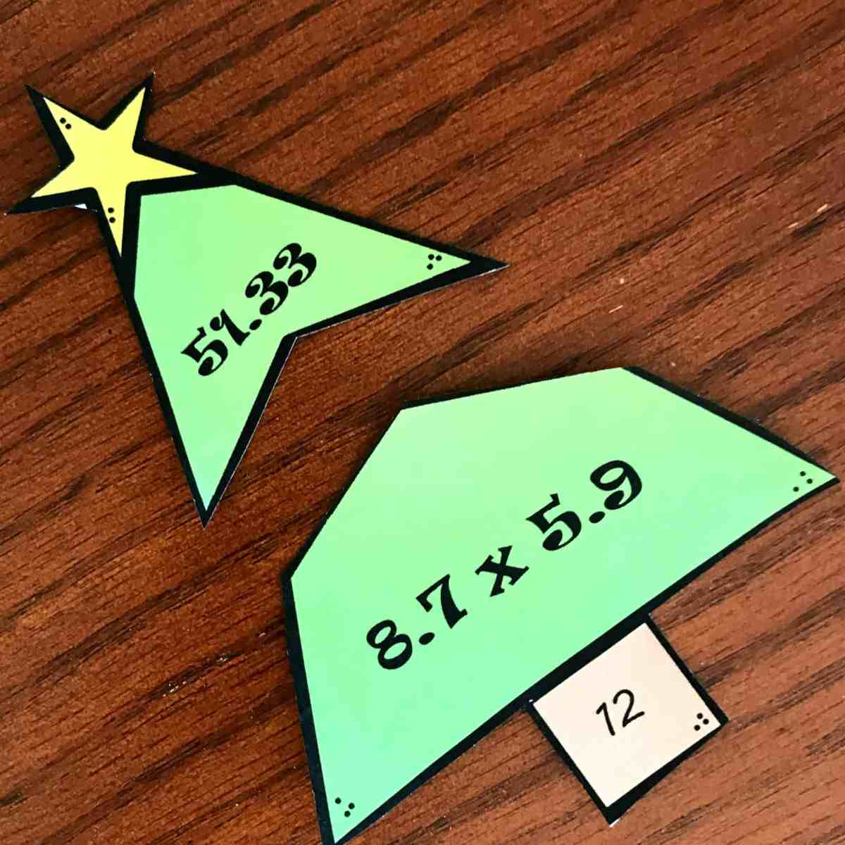 FREE Multiplying Decimals Activity  (Christmas Tree Puzzles)