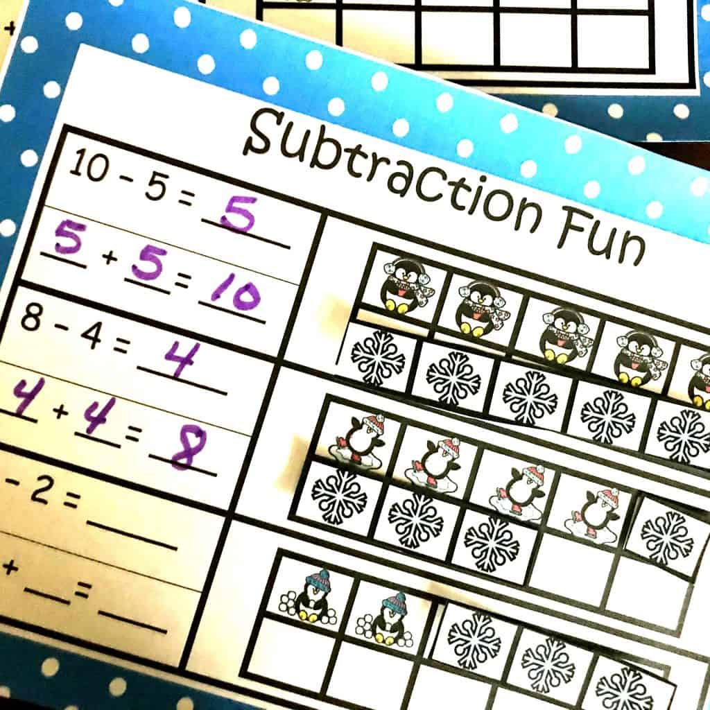 Find The Missing Addend In A Subtraction Problem Cut And