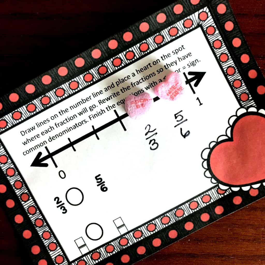 Free Delicious Comparing Fractions On A Number Line Activity