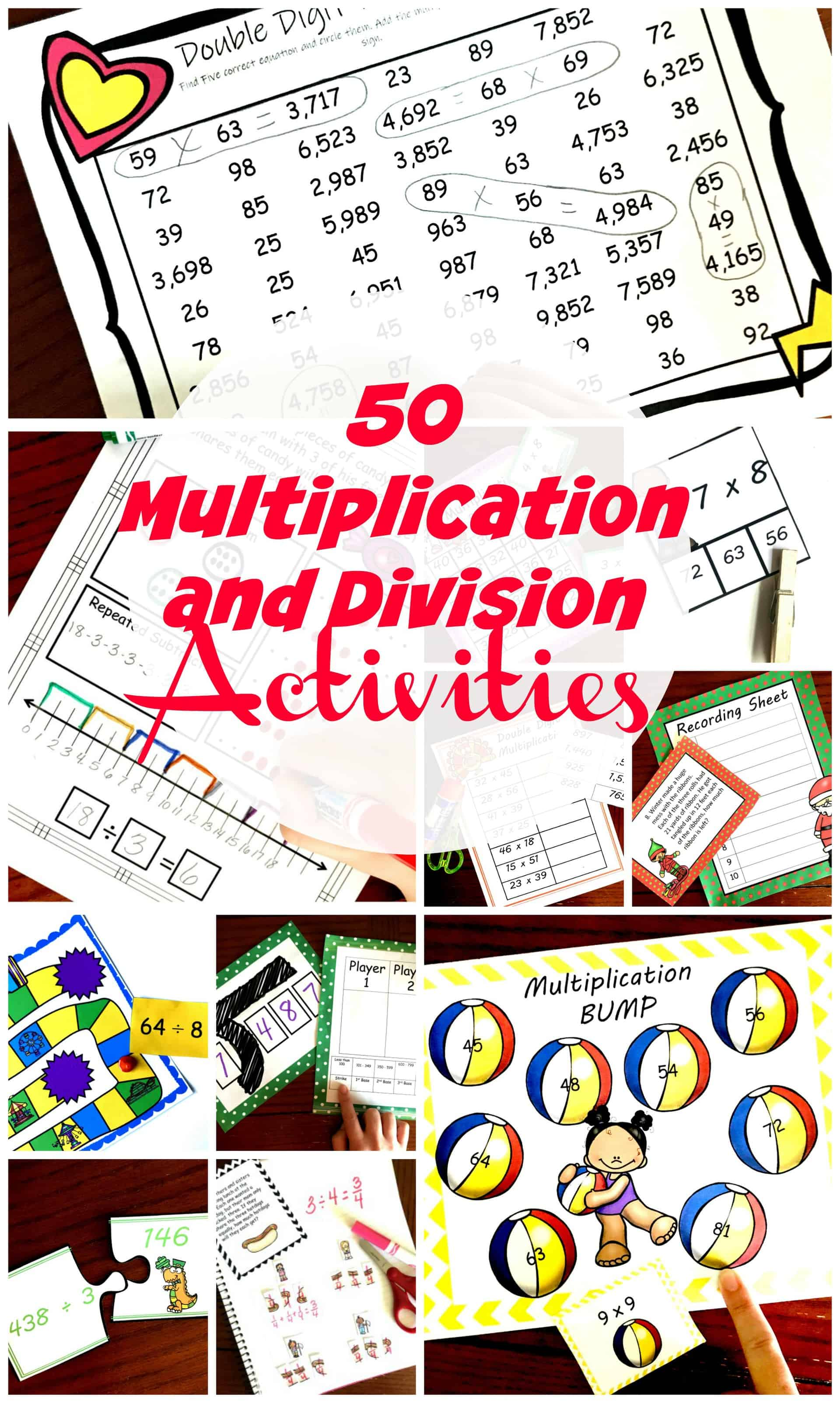 20 Hands  On And Fun Multiplication and Division Activities