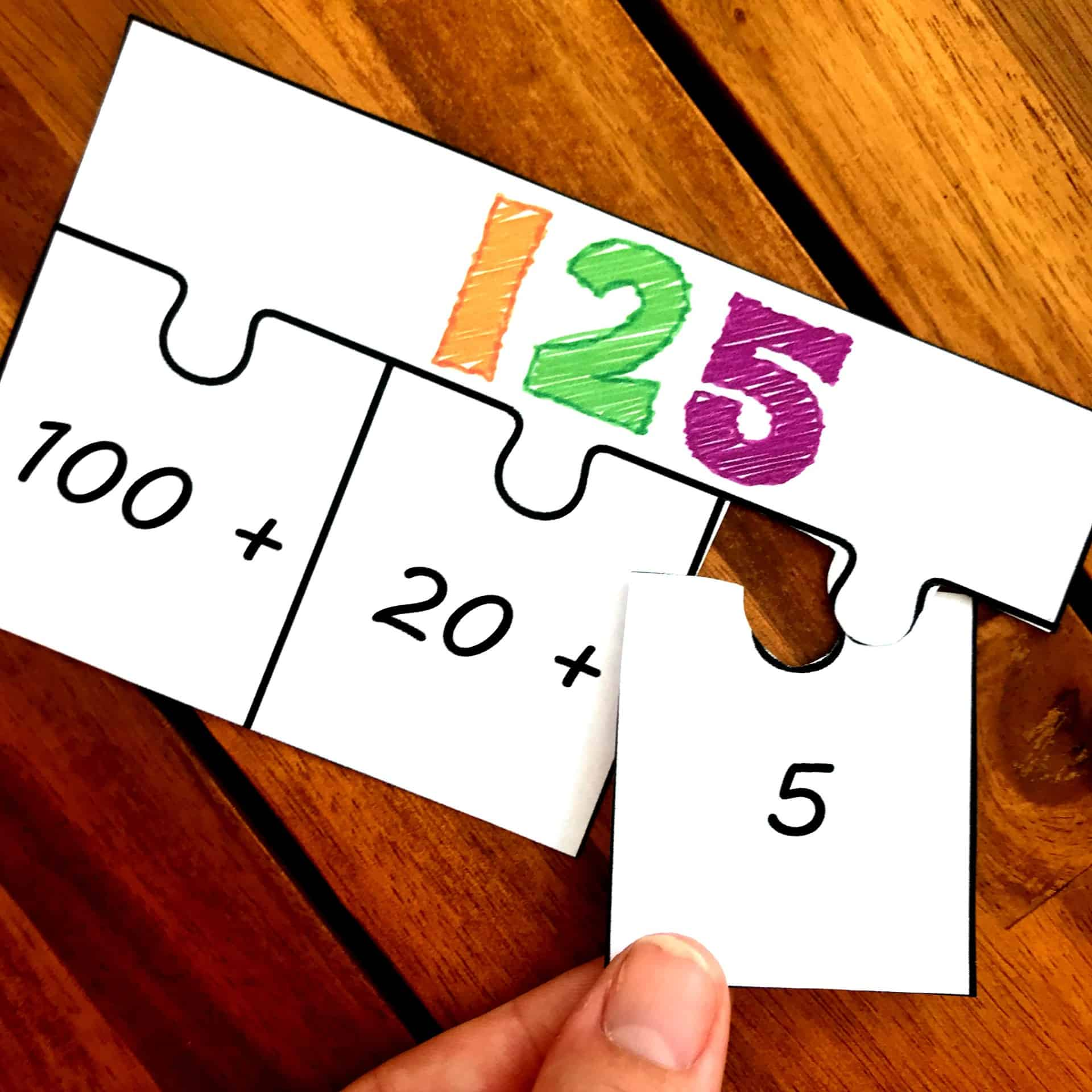 expanded form puzzle  FREE Puzzles For An Expanded Form Activity(Ten, Hundred ...