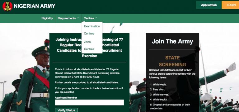 Nigerian army recruitment
