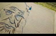 Ölüm Yıl Dönümünde Da Vinci'nin Yüzü Tarlaya Çizildi