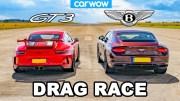 Porsche 911 GT3 ve Bentley Continental GT Kapışması