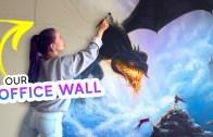 Ejderha Resmiyle Yapılmış Olan Muhteşem Duvar Boyama