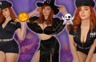 Büyüleyici Güzelden Ateşli Cadılar Bayramı Kostümleri!