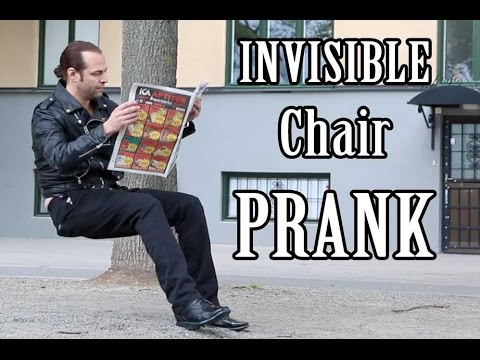 İnsanları Şoka Uğratmış Olan Görünmez Sandalye Şakası