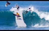 İskeleden Atlayarak Yapılan Sörf Anları Karşınızda!
