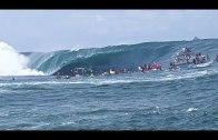 Tahiti Sahillerde Yapılan En Tehlikeli Sörf Anları