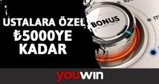 Youwin Ustalara Özel Bonus