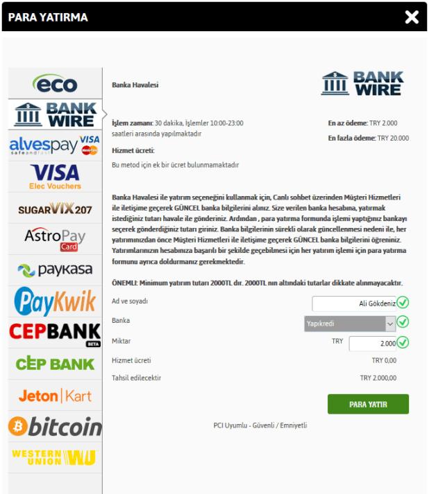 Youwin Banka Havalesi ile Nasıl Para Yatırılır?