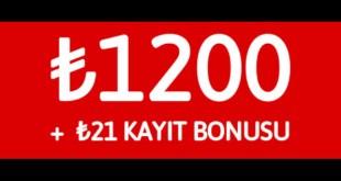 Youwin 1200TL Kayıt Bonusu