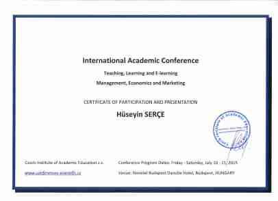 Certificate of Participation and Presentation