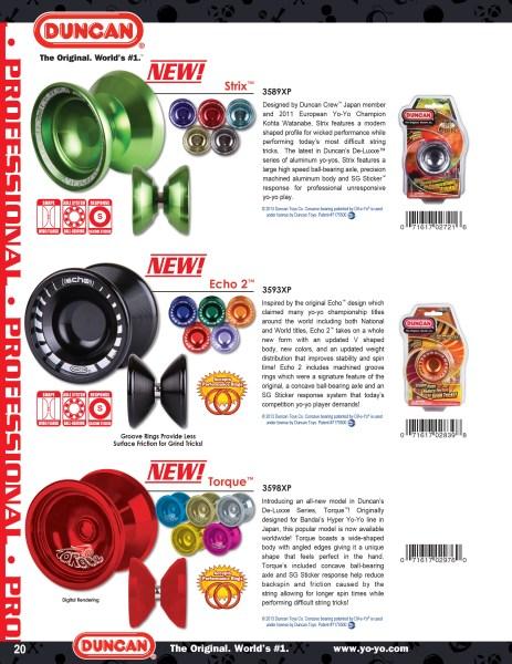 2014 Duncan Toys Catalog Echo 2 & Torque