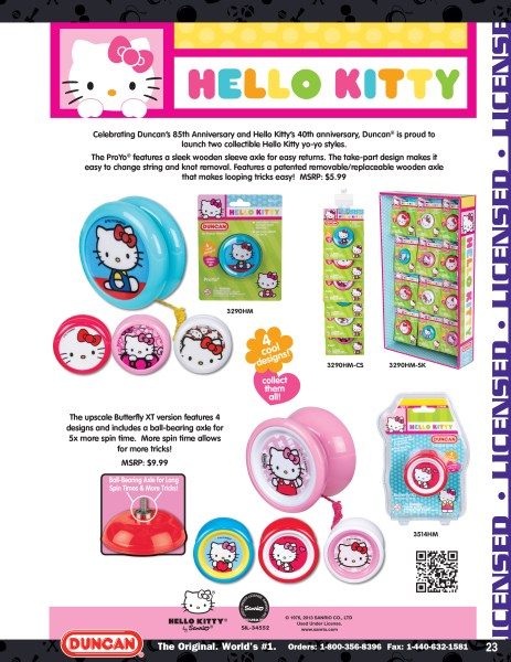 2014 Duncan Toys Catalog - Hello Kitty Licensed YoYos