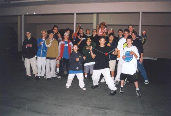 Paul Escolar, Jason Lee, Chris Neff, Steve Brown, Jeffrey Longoria, and others at BAC 2000