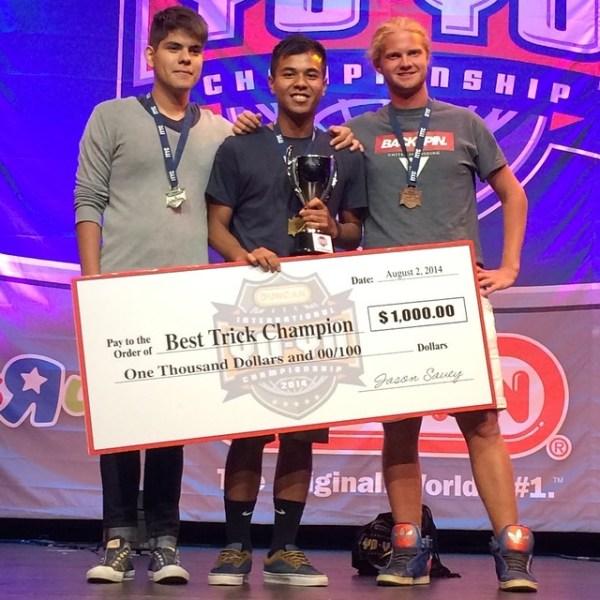 Ben Conde 2014 IYYC Best Trick Champion