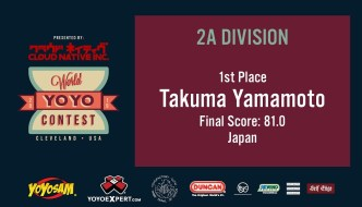 2019 World YoYo Contest – 2A Results