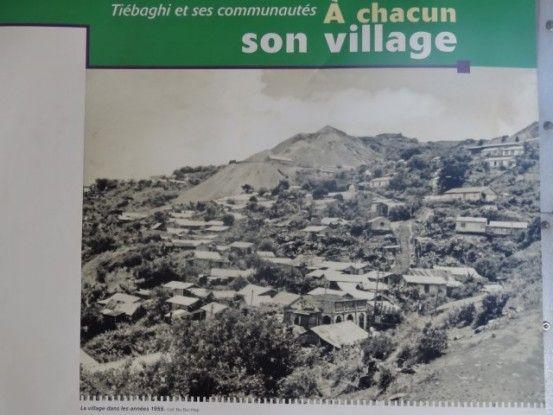 Nouvelle-Caledonie: Mine de Tiebagh le village dans les années 60.