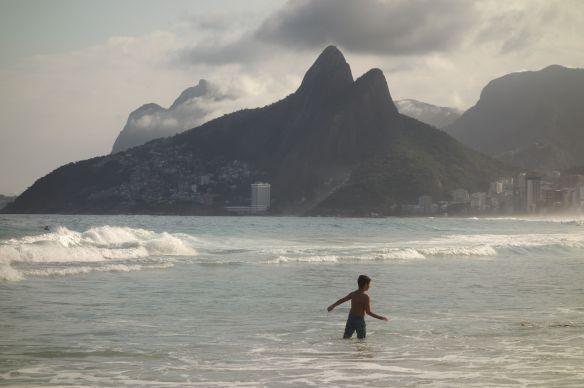 Bresil- Rio de Janeiro: La plage d'Ipanema.