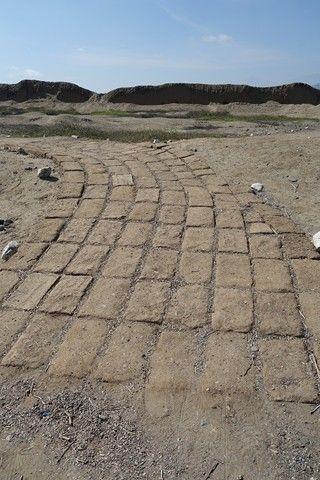 Perou- Chan Chan: Sur ce coup il faut quitter le chemin baliser pour voir des anciennes routes, anciens murs de Chan Chan.